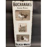 An ultra rare pictorial enamel sign advertising Buchanan's Scotch Whisky 'Black & White' brand,