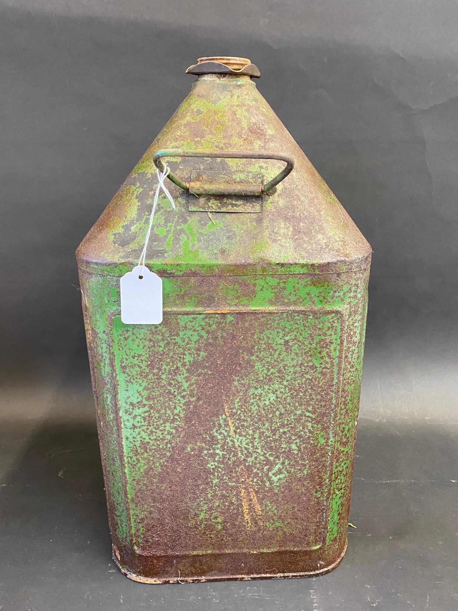 A 'Gear Oil' five gallon square pyramid can. - Image 2 of 3