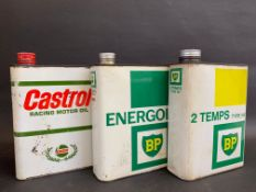 Three Continental oil cans for BP and Castrol.