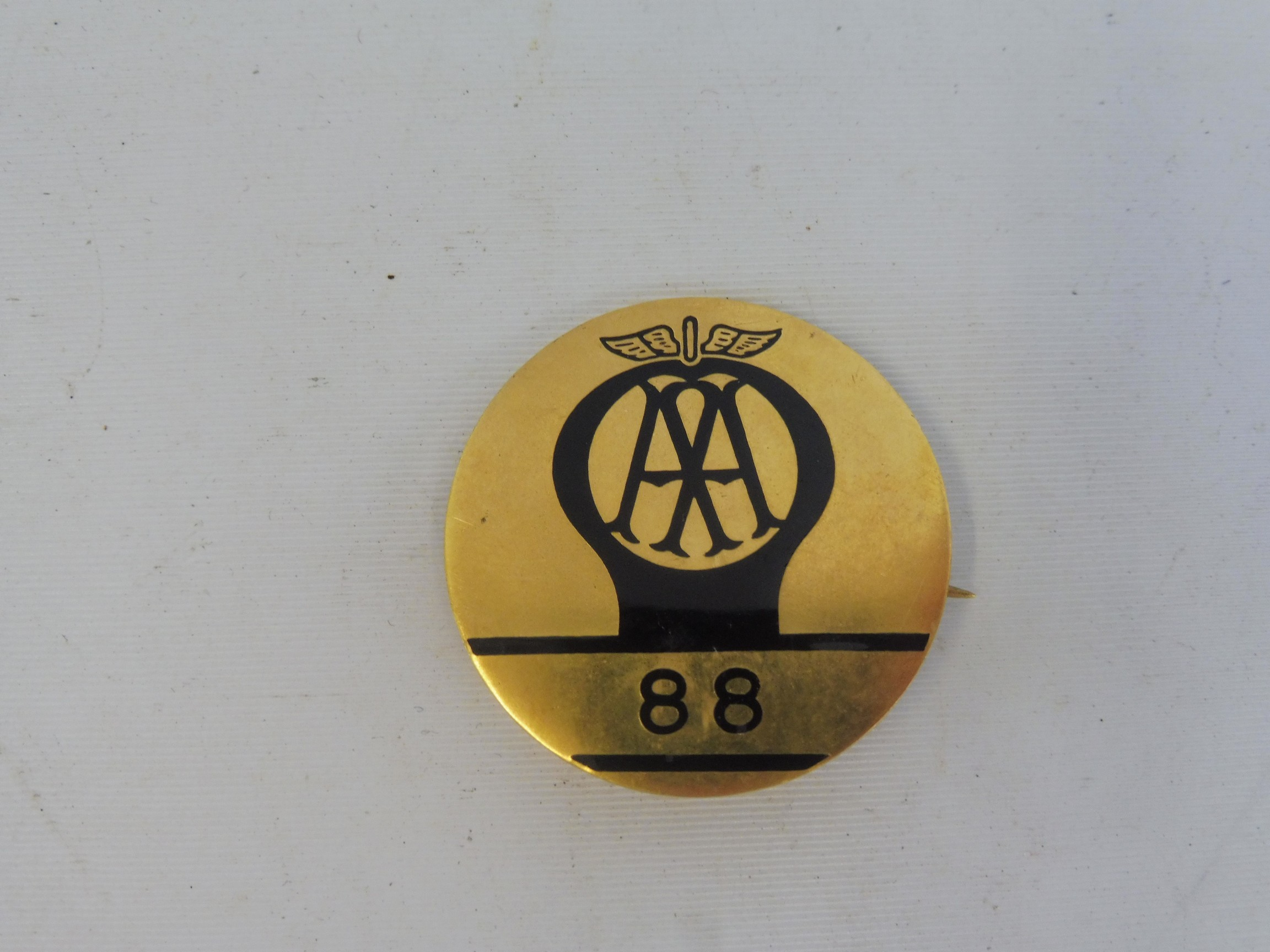 An AA patrolman's lapel badge for box 88.