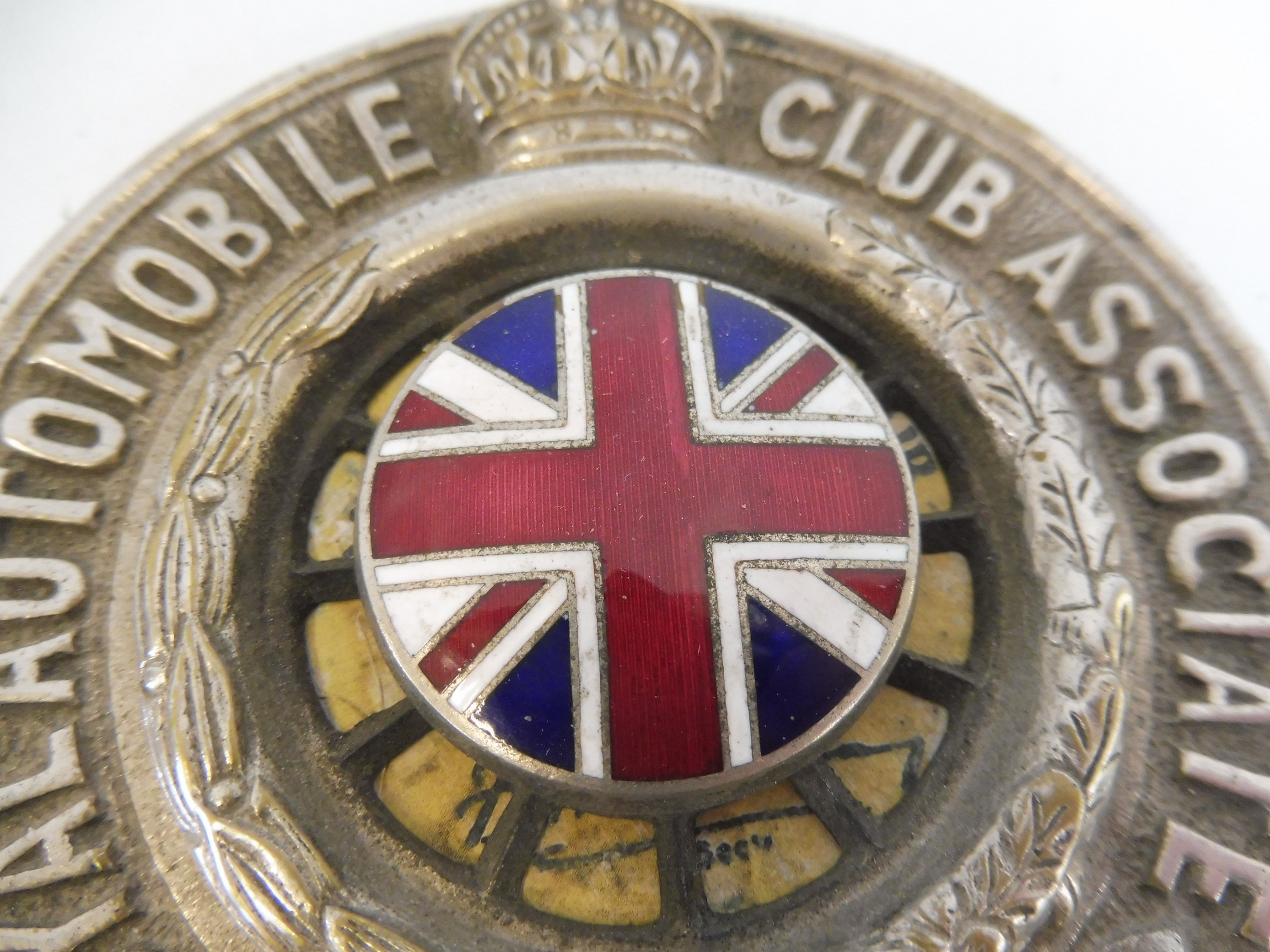 A Royal Automobile Club Associate car badge, with a good enamel union jack centre, nickel plated - Image 2 of 3