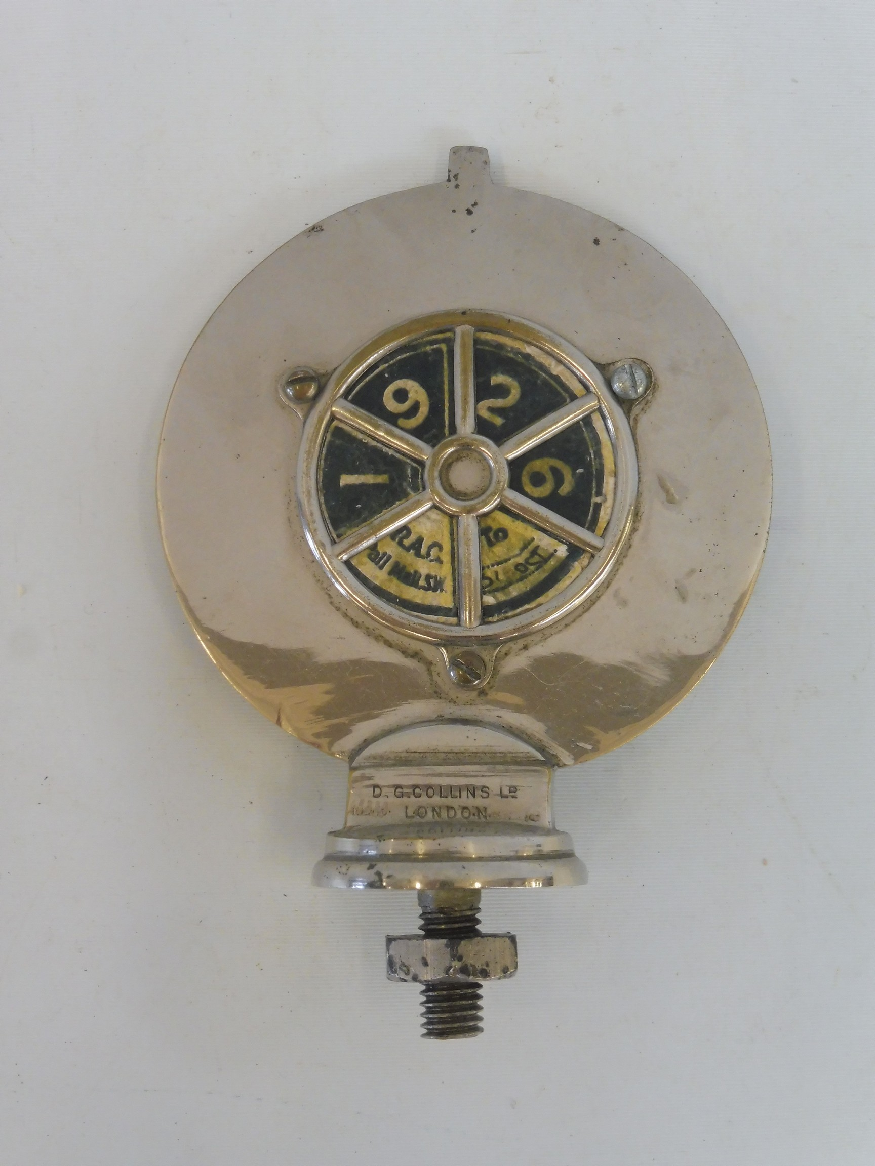 A Royal Automobile Club Associate car badge, with a good enamel union jack centre, nickel plated - Image 3 of 3