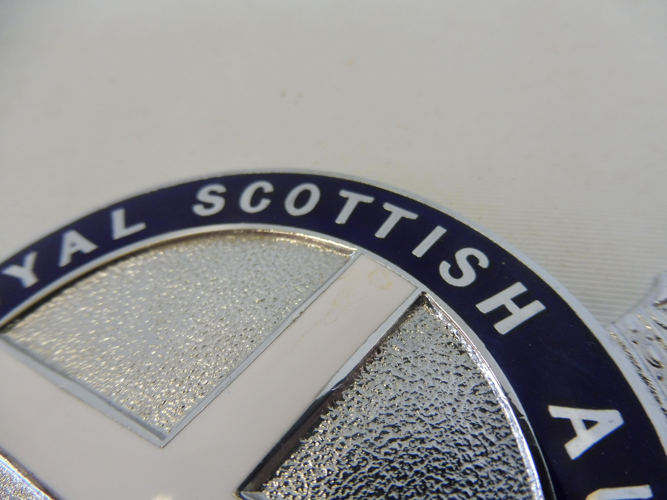 A Royal Scottish Automobile Club chrome plated and enamel badge type 5 bearing the legend 'Gang - Image 3 of 4