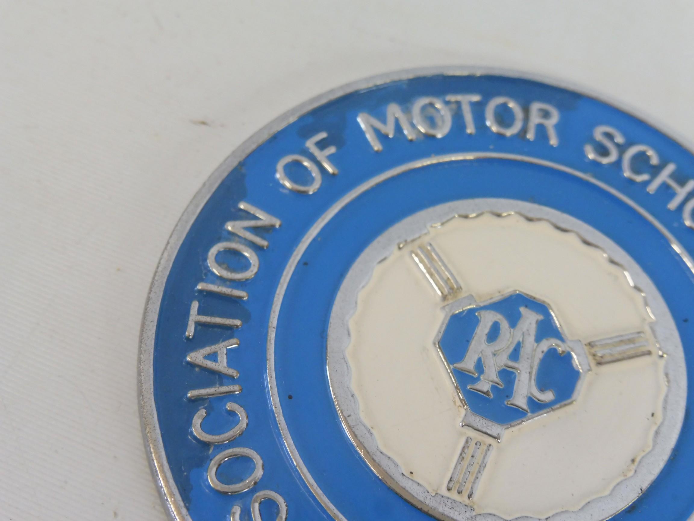 An RAC Association of Motor Schools & Instructors car badge. - Image 2 of 5