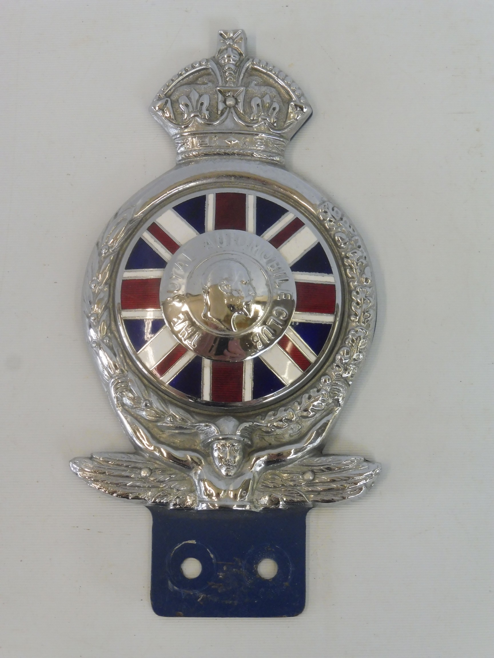 A rare Royal Automobile Club 1953 prototype badge, illustrated on page 87 of 'British Car Badges'.