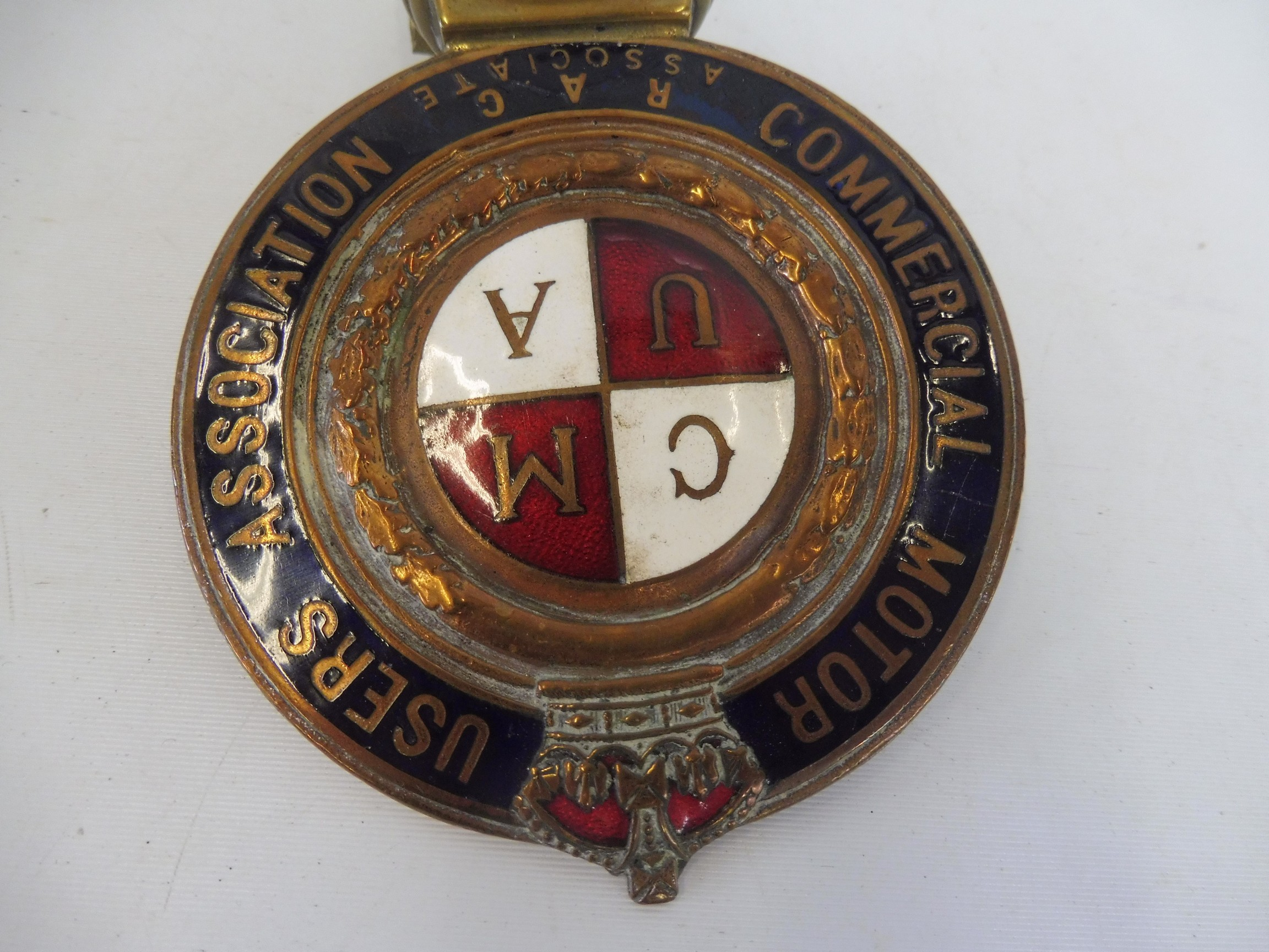 A Commercial Motor Users Association R.A.C. Associate enamelled badge, no 40127, some repair to - Image 3 of 4