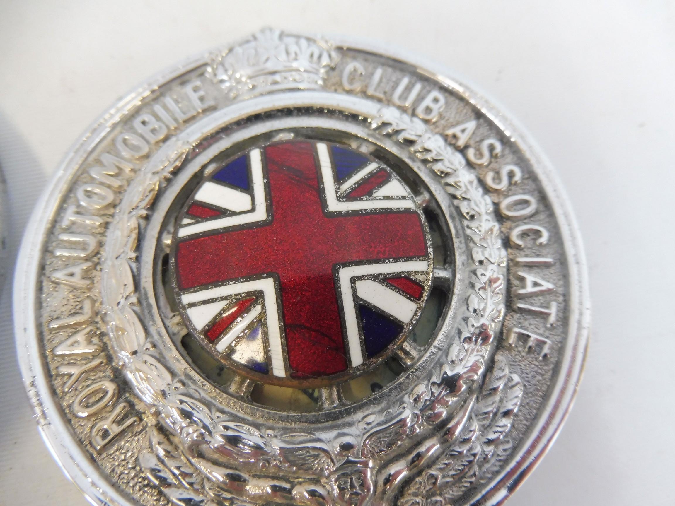 A graduated set of three Royal Automobile Associate car badges, all mazak metal with good enamel - Image 3 of 5