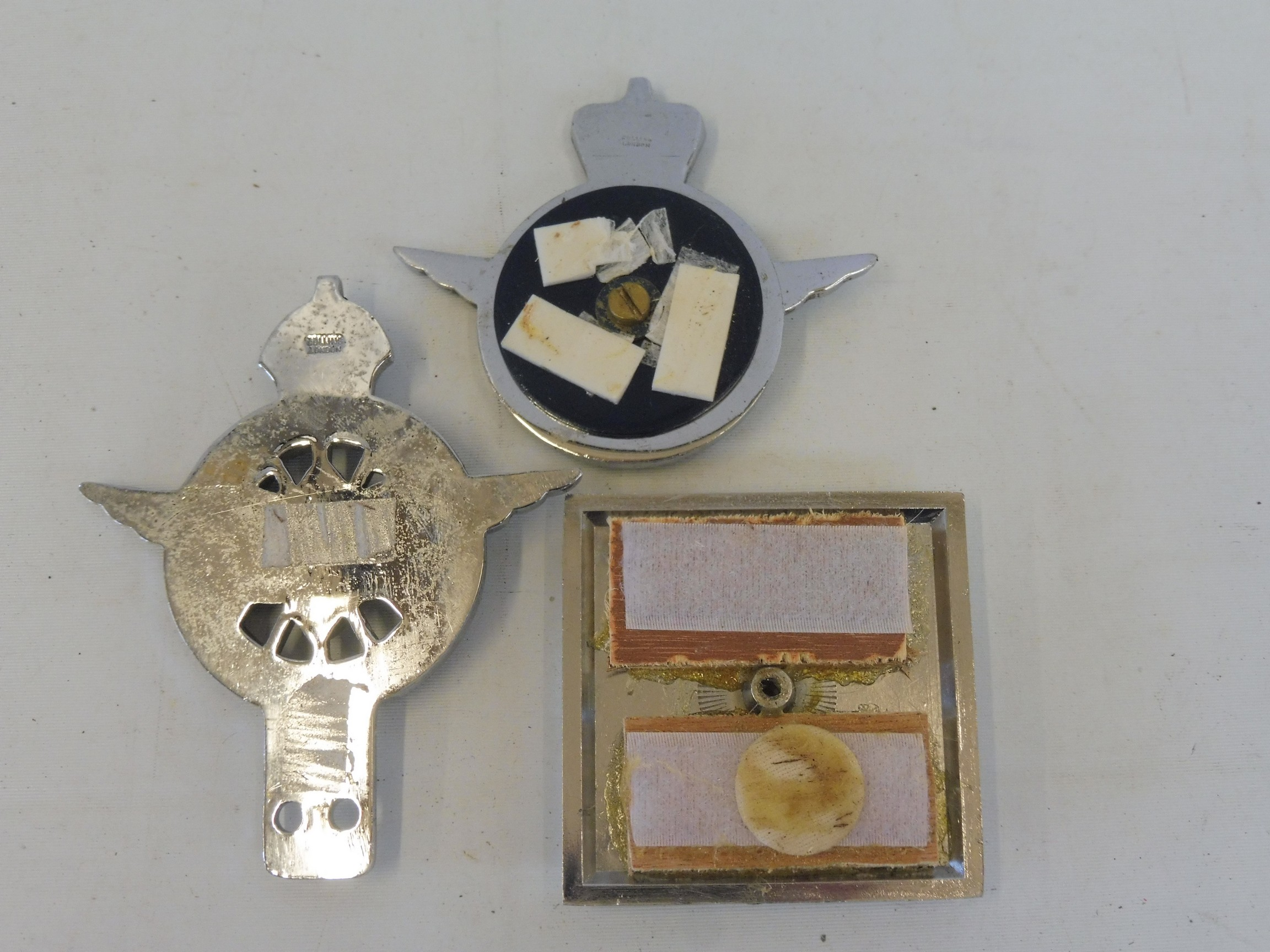 A Civil Service Motoring Association Series type 3 car badge, circa 1930s, chrome plated brass and - Image 2 of 2
