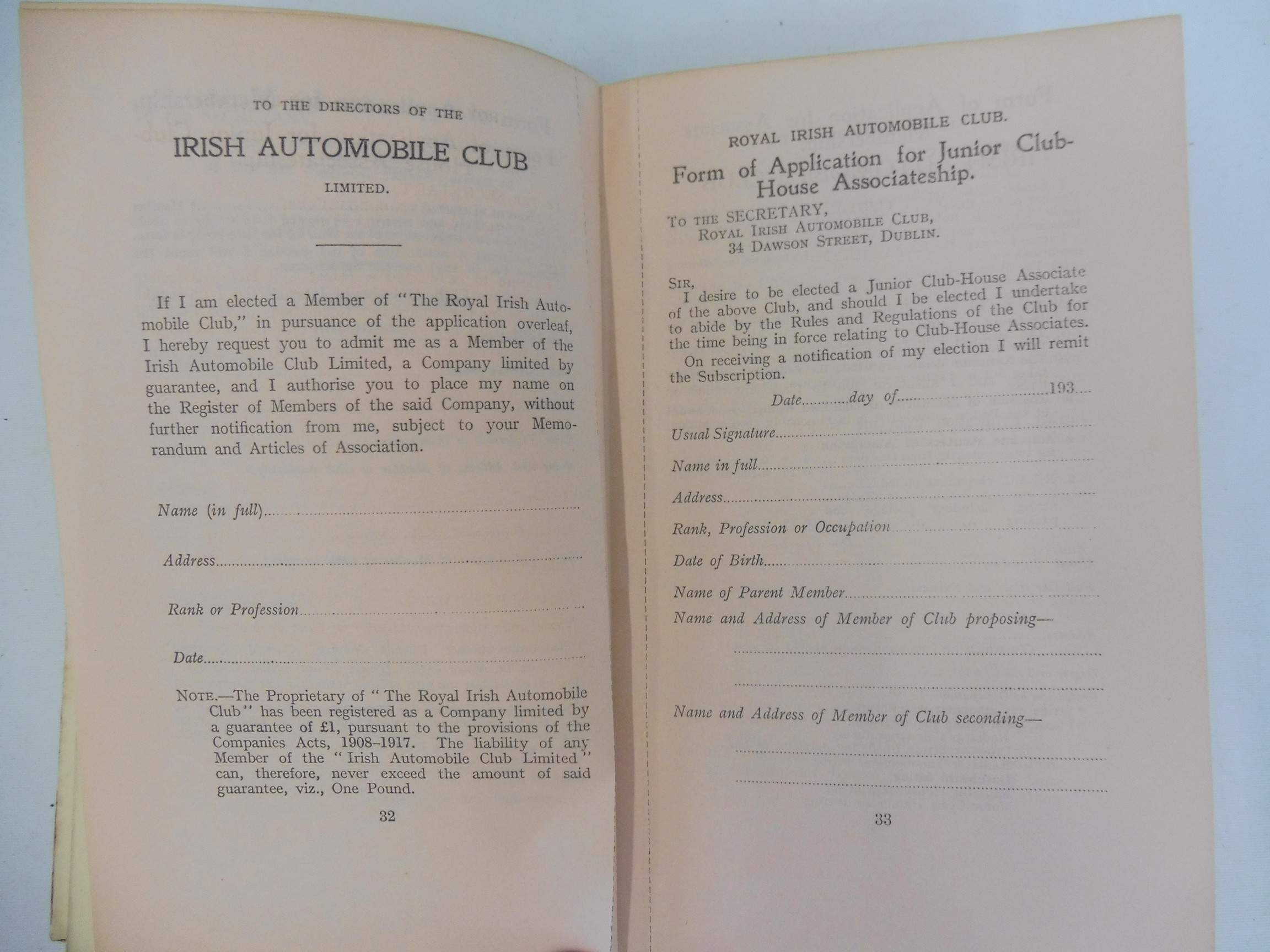 A Royal Irish Automobile Club Official Handbook, 1935-36, The Jubilee Book of the RAC 1947 and three - Image 5 of 6
