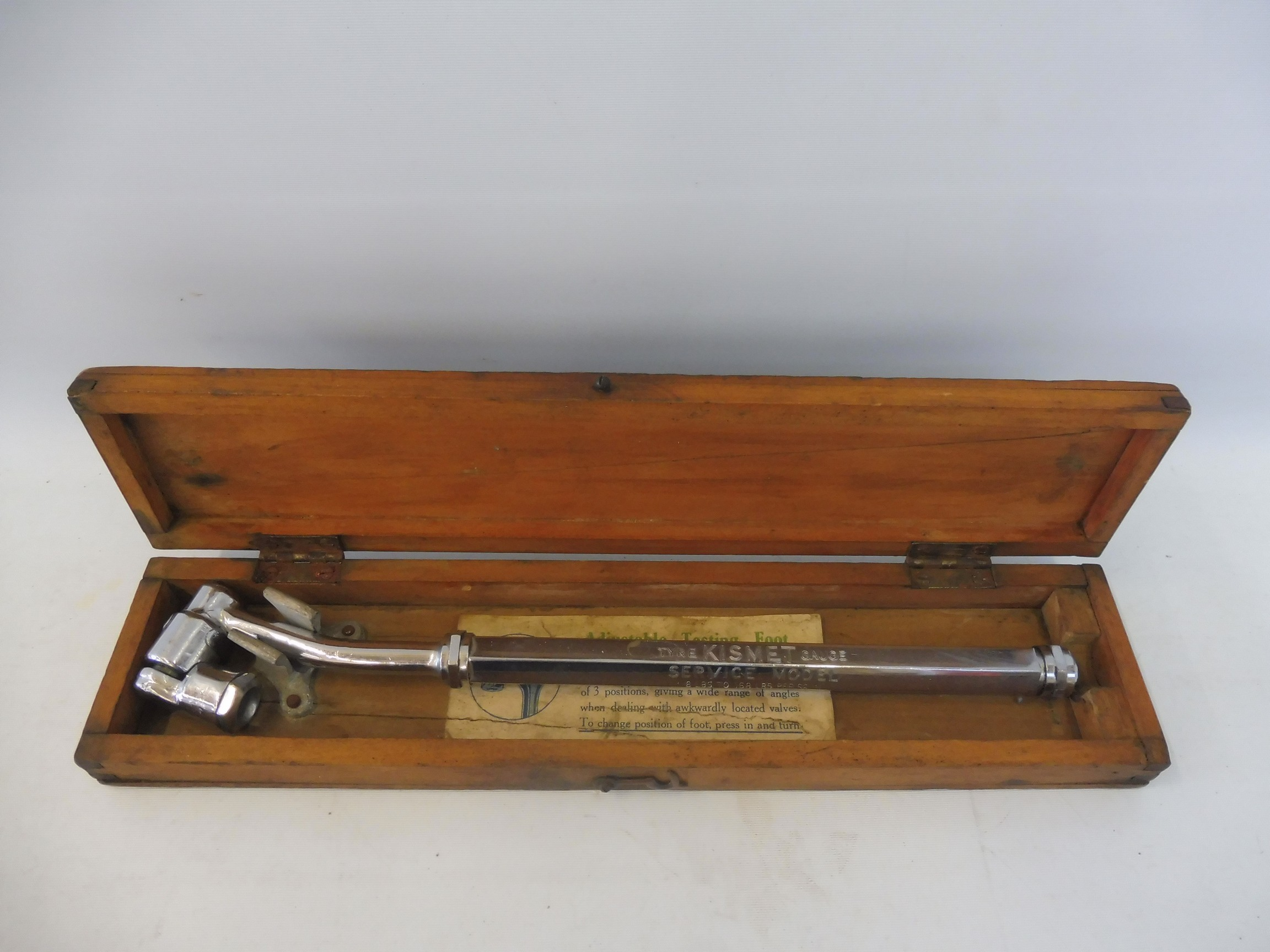 An original boxed Kismet tyre gauge. - Image 2 of 2