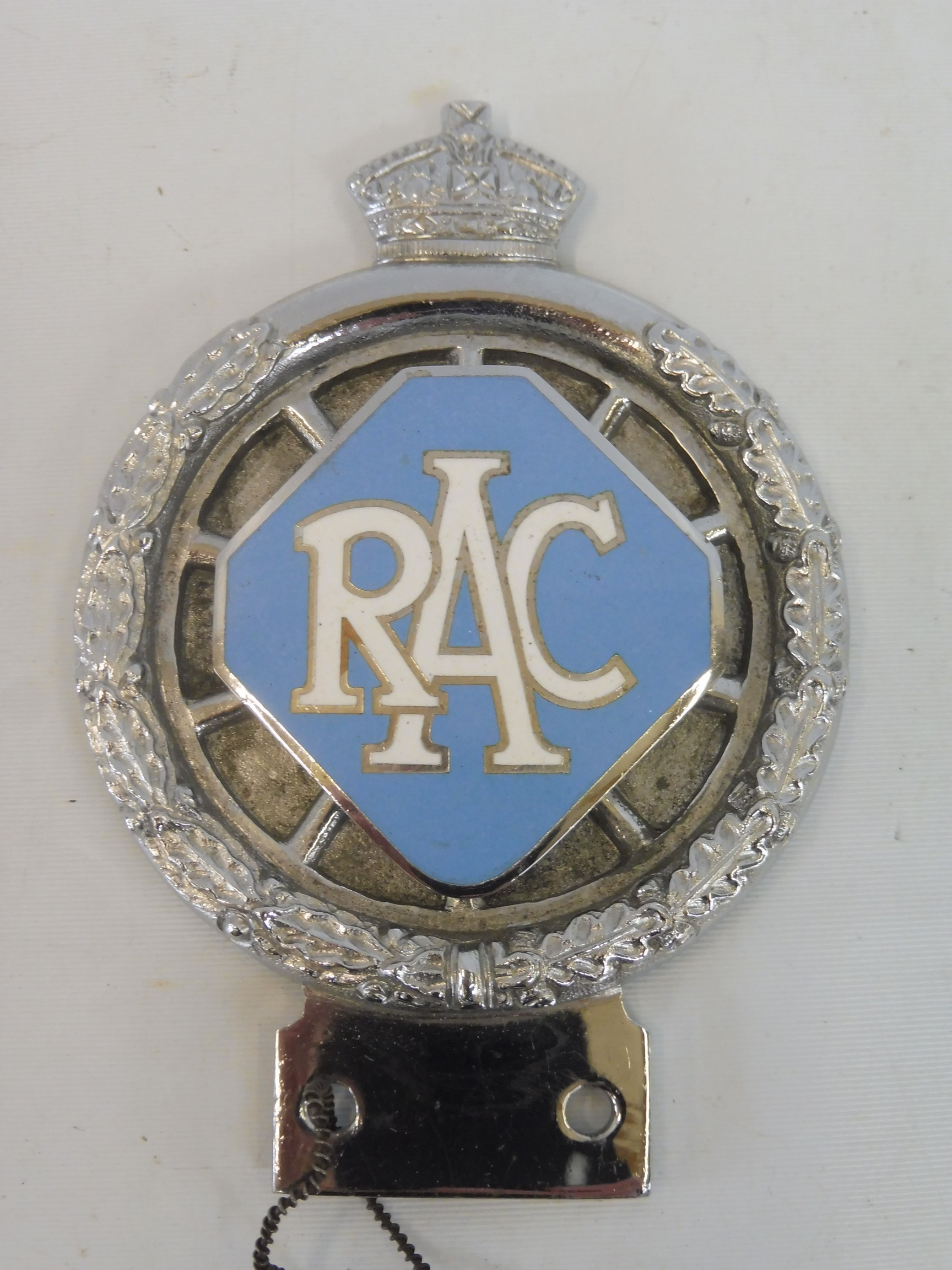 An RAC 1953 prototype car badge, with large lozenge enamel centre, still retaining a cardboard tag - Image 2 of 5