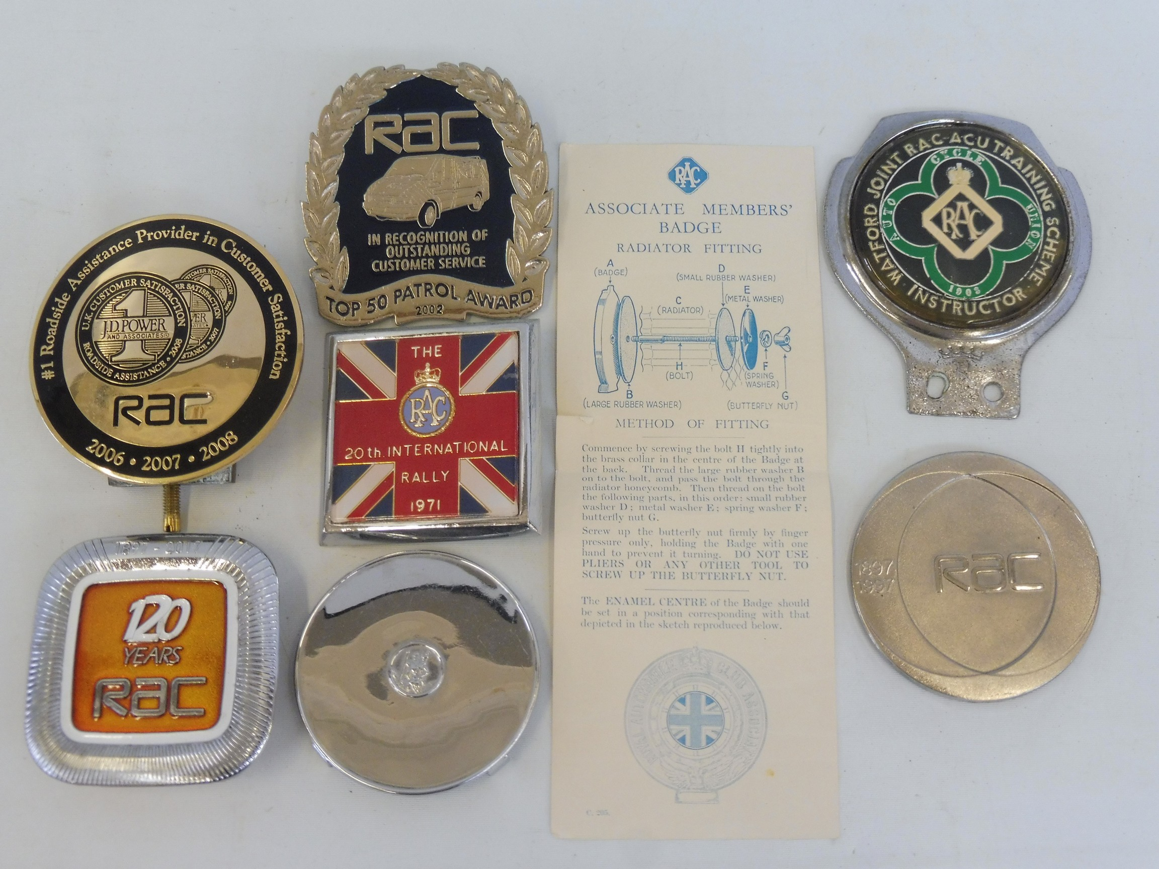 A Royal Automobile Club prototype full members badge - a finished version of lot 99.