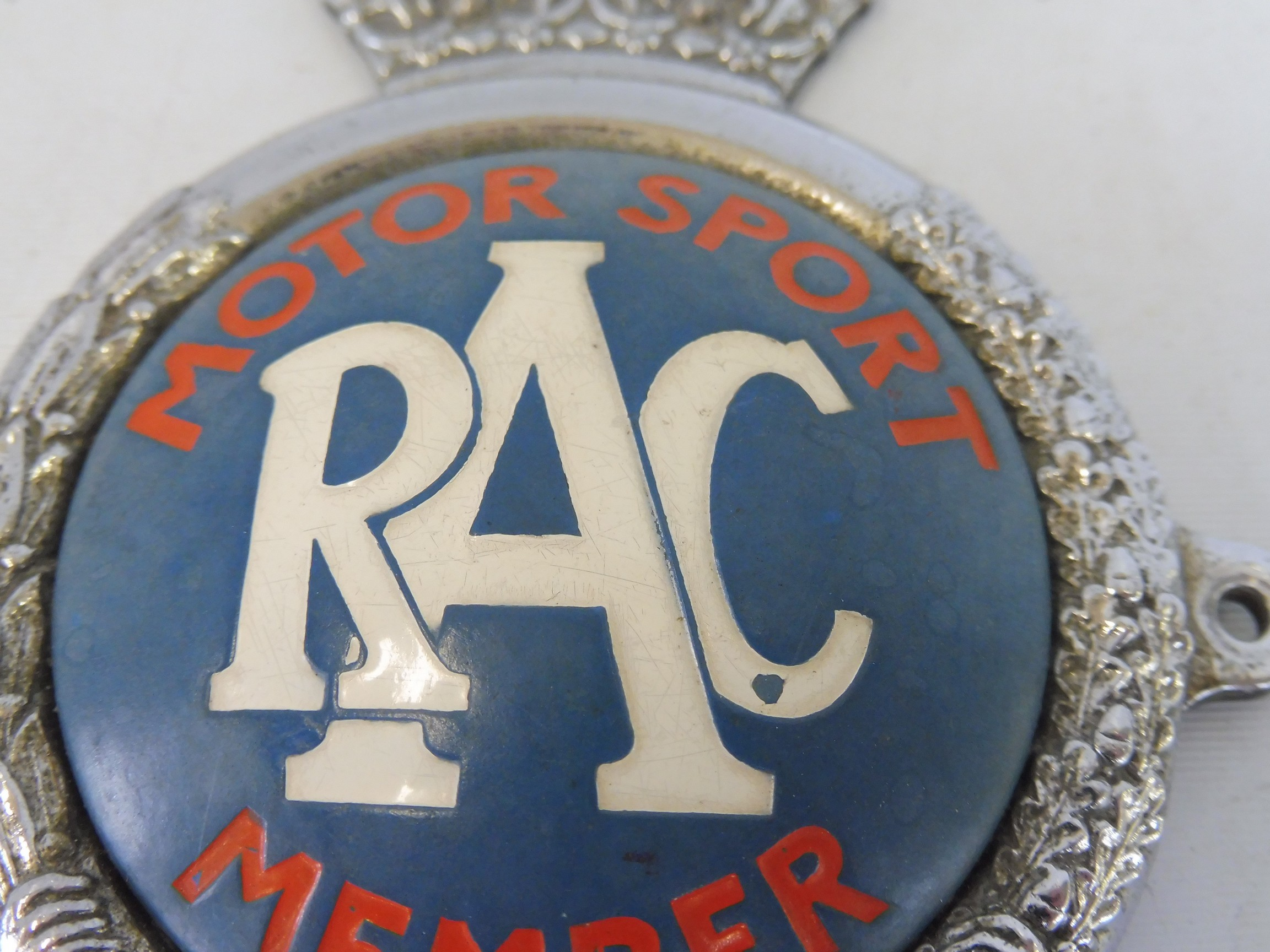 An RAC Motor Sport Member car badge, type 3 1955 - early 1960s, radiator type, chrome plated brass - Image 2 of 3