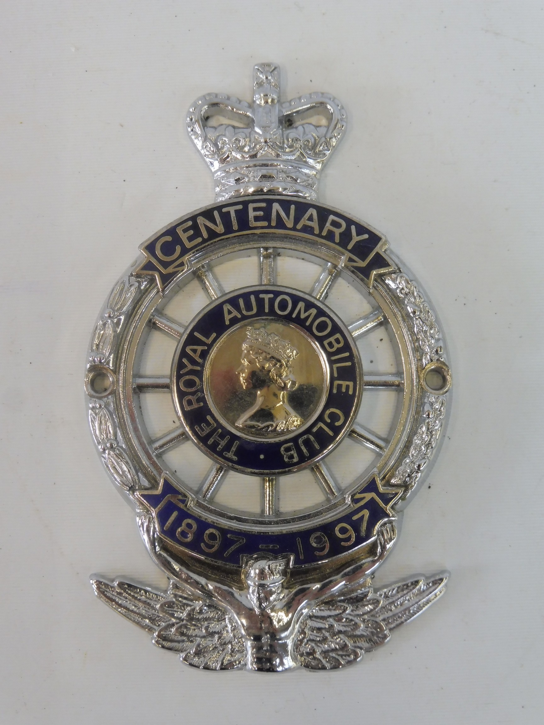 A boxed Royal Automobile Club Centenary badge, full member type 1.