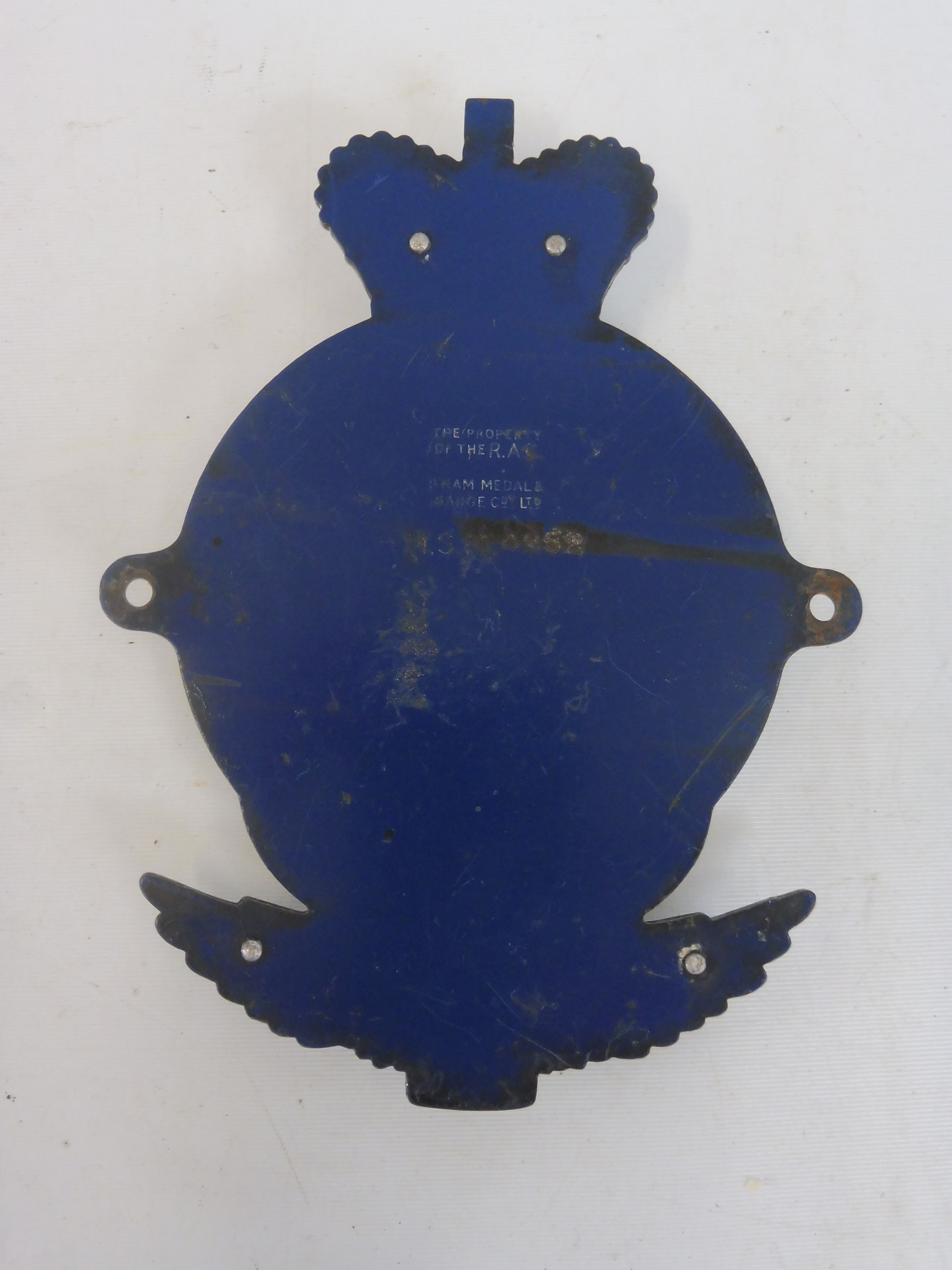 An RAC Motor Sport Member car badge, type 3 1955 - early 1960s, radiator type, chrome plated brass - Image 3 of 3