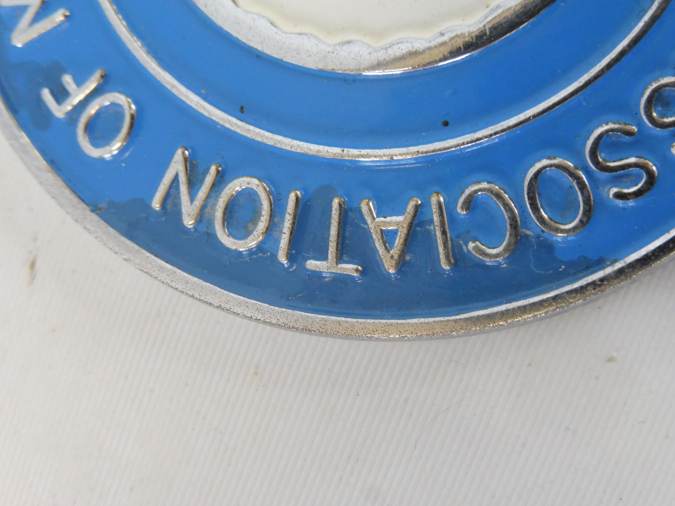 An RAC Association of Motor Schools & Instructors car badge. - Image 3 of 5