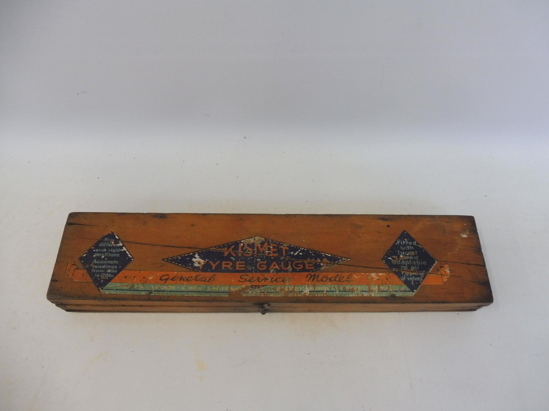 An original boxed Kismet tyre gauge.