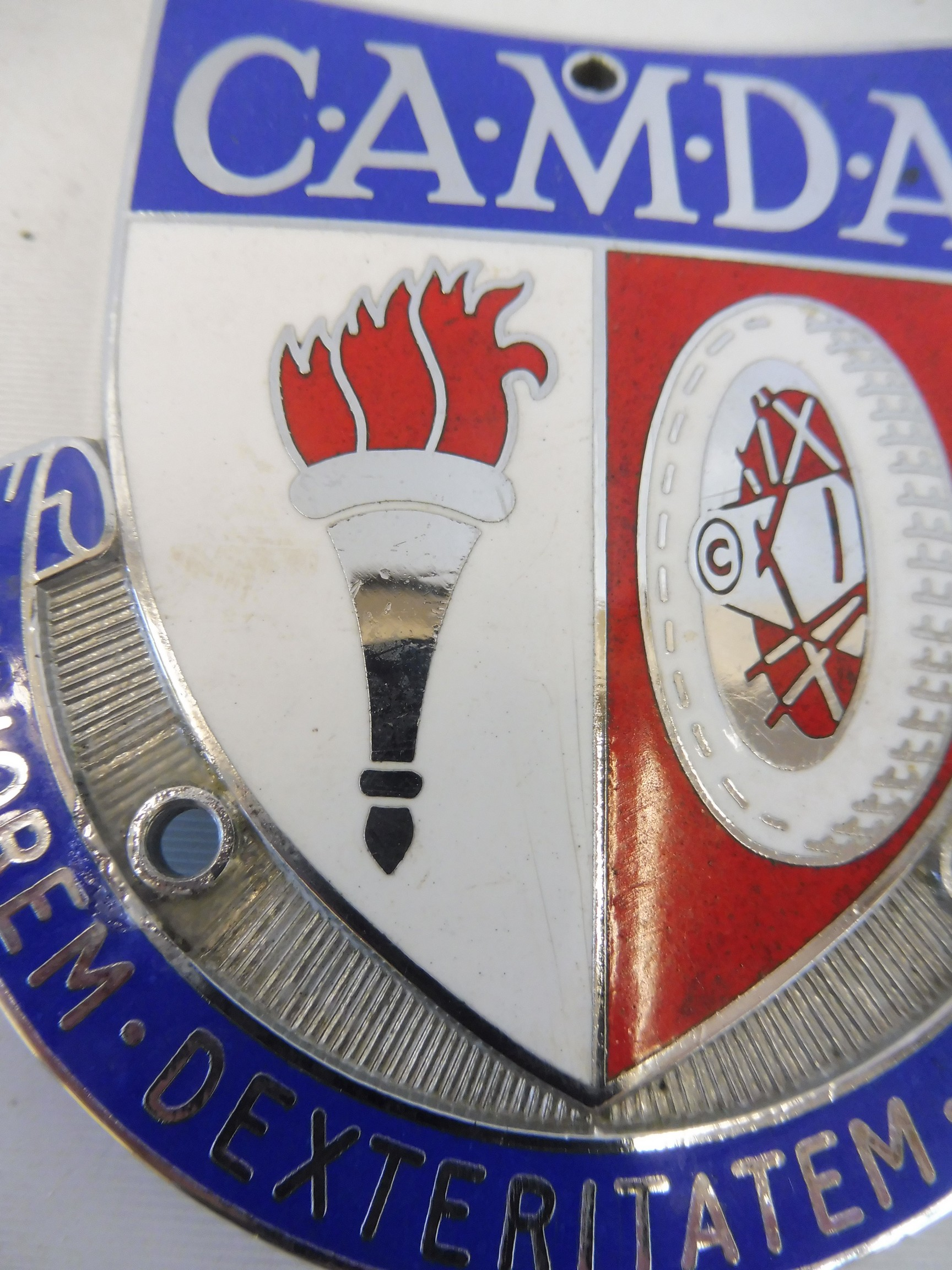 A CAMDA enamel and chrome plated car badge, type 1, 1950s-1960s. - Image 2 of 2