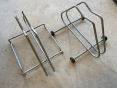 Two bicycle stands.