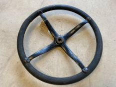 An original Ford Model T steering wheel, fully stamped Ford T-902-D2 A.