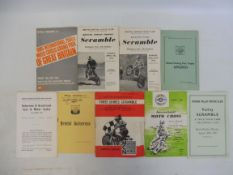 A selection of moto cross, scrambles and autocross programmes, Bristol Motor Cycle Club, Old Sodbury