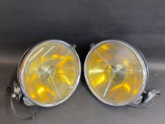 A good pair of Lucas PR100 chrome plated headlamps, in generally very good condition except for a