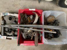 A selection of Alvis 14hp parts, Alvis castings etc.