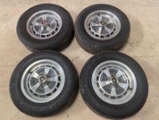A set of four Jaguar wheels to suit XJ6 models.