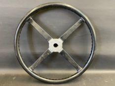 A Lagonda 2 litre steering wheel.