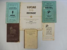 A selection of mixed motoring books related to Ariel motorcycles including an Ariel gearbox type '