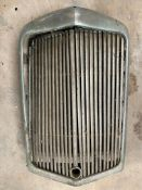 An Alvis 14hp radiator surround and grille.