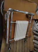 Clematis towel radiator, item is unchecked and may contain marks, cosmetic damage and more.