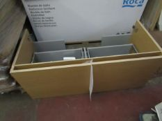 Roca Stratum 1085mm light up vanity bathroom unit with built in lighting, new and boxed. RRP Circa
