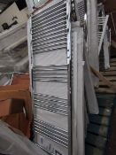 Loco straight towel radiator 600 x 1800, ex-display and boxed. Please note, this lot may contain