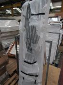 Loco straight towel radiator 1800 x 500, ex-display and boxed. Please note, this lot may contain