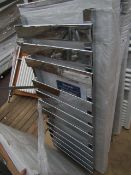 Warmbase Saharah contemporary towel radiator 450 x 1200, ex-display and boxed. Please note, this lot