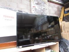 """Toshiba 50"""" LED backlight TV, powers on but screen appears to be faulty but not smashed (no"""