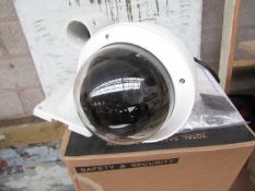 Cop Security full PTZ camera set with wall bracket, vendor suggests tested working and boxed.
