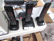 3 Piece BT home phone set, unchecked.