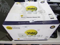 Yale Smart Home alarm kit, unchecked and boxed.