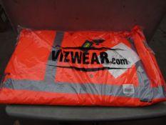 Vizwear - Hi-Vis Orange Parka Coat - Size 4XL - Unused & Packaged.