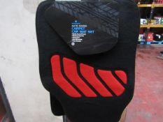 Morrison's - Auto Range Carpet Car Mat Set (Black With Red) - Unused.