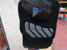 Morrison's - Auto Range Carpet Car Mat Set (Black With Grey) - Unused.