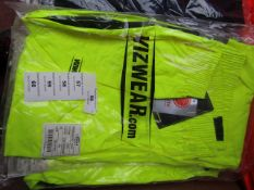 Vizwear - Hi-Vis Yellow 2 Tone OverTrouser - Size 2XL - Unused & Packaged.