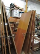 Pallet of 6x Interior doors, various sizes all with handles nad some have hinges, some will have