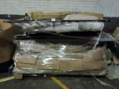 | 1X | PALLET OF YARK BED B.E.R FURNITURE PARTS, UNMANIFESTED, WE HAVE NO IDEA WHAT IS ON THIS
