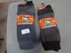 6 X Pairs of Mens Lambs Wool Suit Socks Size 6-11 New in Packaging