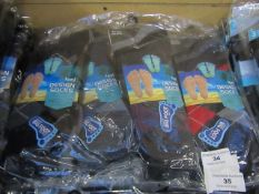 PK of 12 Mens Design Socks Size 11-14 New & Packaged