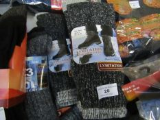 9 X Pairs of Lymitations Wool Boot Socks size 6-11 New & Packaged