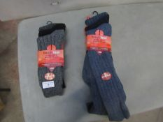 6 X Pairs of Woo;l Boot Socks Size 6-11 New in Packaging